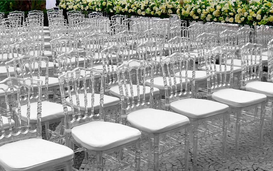Novas Cadeiras Transparentes para Locação